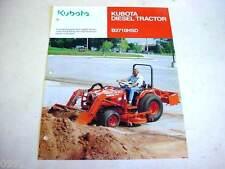 Kubota B2710HSD Diesel Tractor Literature