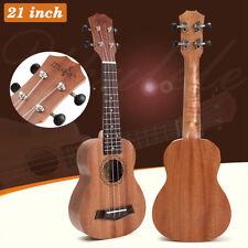 "21"" Soprano Ukulele Uke 4 String Hawaiian Guitar 15 Frets Musical Instrument New"