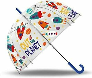 """Out Of This Planet Bubble Umbrella Dome 19"""" Sunshade Wipeable Fabric Kids Gift"""