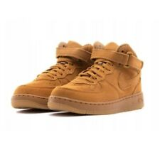 Nike Force 1 Mid LV8 Boots Size UK 2  EUR 34 RRP £44.95 Wheat - Gum Light Brown