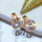 Elegant 925 Silver Earrings For Women Cubic Zirconia Wedding Engagement Jewelry