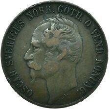 More details for coin / sweden / 5 ore 1857 oscar i   #wt25241