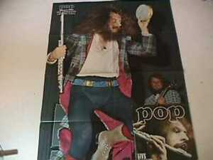 POP 1972 JETHRO TULL 32 X 22 INCH SUPER POSTER GERMAN MAGAZINE not LP or CD