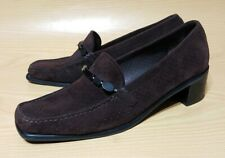 Stuart Weitzman Brown Suede Leather Loafers Womens Shoes 9 M