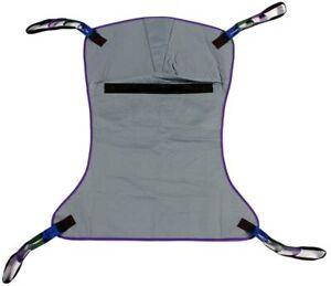 Full Body Solid Fabric Patient Hoyer Lift Sling Medium 600lb Weight Capacity