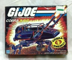 1984 Hasbro GI Joe ARAH Cobra ASP Cannon Boxed Complete Instructions FREESHIP