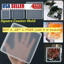 Silicone Mould Epoxy Resin Casting Molds Coaster Mold Square Jewelry Making Tool