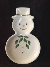 *Adorable* Lenox Holiday Snowman Shaped Decorative Small Plate