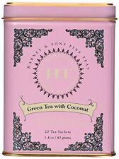 Harney and Sons Fine Teas, Green Tea coconut, 20 tea sachets 1.4 oz/ 40 grams, N