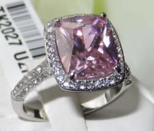 Cushion Simulated Solitaire with Accents Costume Rings