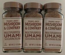3 BOTTLES - Trader Joes UMAMI Multipurpose Seasoning Blend Mushroom & Company
