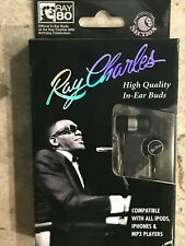 RAY CHARLES In-Ear Buds Artist Headphones for iPod iPhone MP4 MP3 Player **NEW**