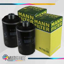 Set of 2 MANN FILTER W719/45 Oil Filter 100% GENUINE Audi & Volkswagen FAST SHIP