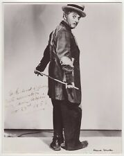 """Charles Chaplin (1889-1977) – Iconic vintage signed photograph """"The Tramp"""""""