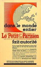 """JOURNAL """" LE PETIT PARISIEN """" PUBLICITE 1939"""