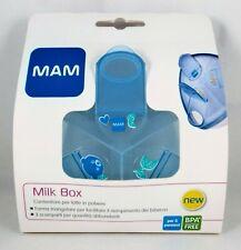 MAM Lait Boîte de Rangement Distributeur X en Poudre 3 Compartiments 40g Bleu