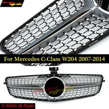 Diamond grille W204 grills for Mercedes Benz C-Class 2007 - 2014 C200 C220 C350