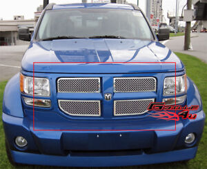 Stainless Steel 2.5mm Mesh Grille For 07-11 2011 Dodge Nitro