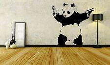Wall Sticker Decal Vinyl Decor Panda Gun Kung fu Style Cartoon Animal