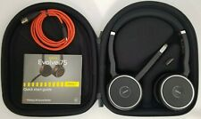 Jabra Evolve 75 Wireless Headset w/ Carrying Case and USB Link 370 Dongle NEW