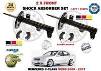 FOR MERCEDES W203 C180 C200 C230 C240 C280 C320 2000>2X FRONT SHOCK ABSORBER SET