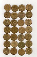 repubblica moneta 20 lire bronzo - stock composto da 28 pezzi come foto -