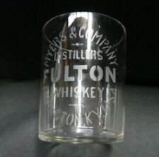 Vintage Myer's & Company Distillers Fulton Whiskey Shot Glass, AS IS