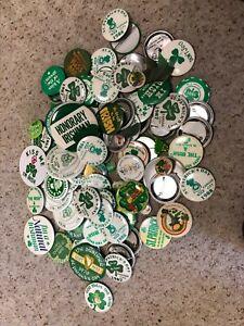HUGE Lot of NEARLY 100 Vintage St. Patrick's Day Irish Pinback Button souvenirs