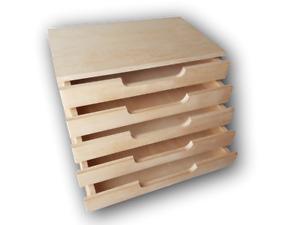 A4 Plain Wooden Cupboard Chest Shelf With Drawers Storage Desktop Unit D45-NEW