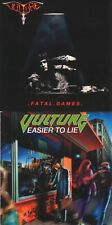 VULTURE - 2 CD SET - FATAL GAMES /EASIER TO LIE (1990,1992) Jewel Case+FREE GIFT