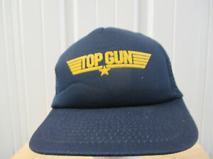 VINTAGE TOP GUN 1986 FILM MOVIE SNAPBACK TRUCKER MESH PROMO HAT CAP TOM CRUISE