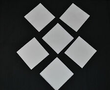 SOLID WHITE 5 INCH Quilt Squares (40)