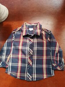 Baby boy checked shirt 3-6 months