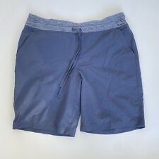 """Duluth Trading Co Women Plus 16 Armachillo Cooling 10"""" Short Blue Pocket Stretch"""