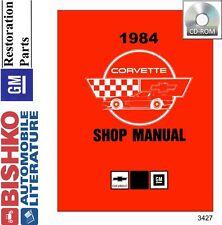 1984 Chevrolet Corvette Shop Service Repair Manual CD