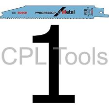 """1 Bosch S123XF Progressor Sabre Saw Blade 150mm 6"""" for METAL Thin to Thick"""