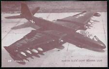 USAF MARTIN B-57B LIGHT BOMBER Aircraft Vintage Penny Arcade Exhibit Card #39