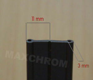 10 m Doppelt Kantenschutz 3mm /Kederband ,Außenkantenschutz 3X11mm