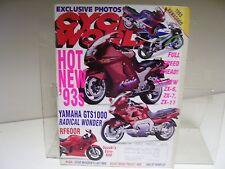 STEVE McQUEEN'S LAST RIDE 1992-93 Cycle World return of the blob GTS 1000 RF600R