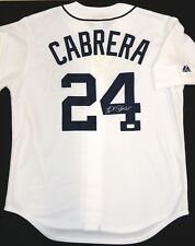 Miguel Cabrera Autographed Detroit Tigers Majestic Home Jersey