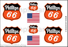 NEW PEEL AND STICK HO SCALE PHILLIPS 66 TRAIN TANKER TRUCK MODEL DECALS NOP66HO1