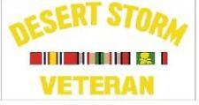 DESERT STORM VETERAN WAR MILITARY STICKER WINDOW DECAL