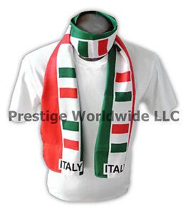 Italian Flag Print Scarf *NEW* Italy bandiera d'Italia Tricolore *FREE SHIPPING*