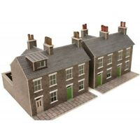 Metcalfe PN104 Stone Terraced Houses x 2 Die Cut Card Kit N Gauge 1st Class Post