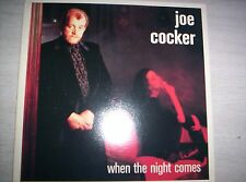 JOE COCKER  WHEN THE NIGHT COMES 7 inch 45 Picture Sleeve  1989