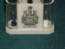 "2.5"" plastic One piece CANADA Coat of Arms SALT & PEPPER SHAKER(S)"