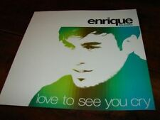 ENRIQUE IGLESIAS LOVE TO SEE YOU!!RARE FRENCH PRESS/KIT