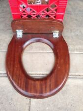 Antique Toilet Seat Looks To Be A Mahogany Or Walnut