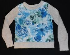 NEW girls JUSTICE floral sequin sweater Size 5