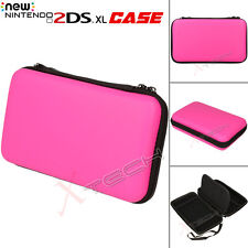 Hard Protective Carry Storage Case Cover With Zip Nintendo 2DS XL + Games - Pink
